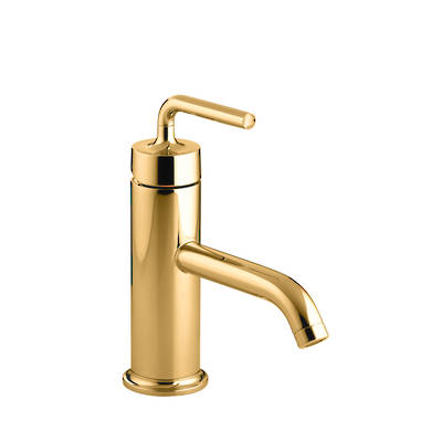 Purist Basin Mixer- PVD Moderne Polished Gold