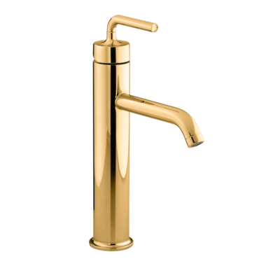 Purist Tall Basin Mixer - PVD Moderne Polished Gold