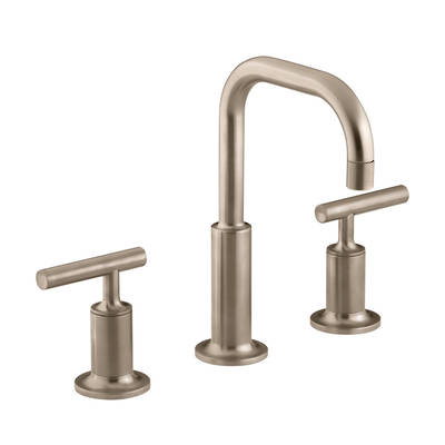 Purist Hob Mount Basin Set - PVD Vibrant Brushed Bronze