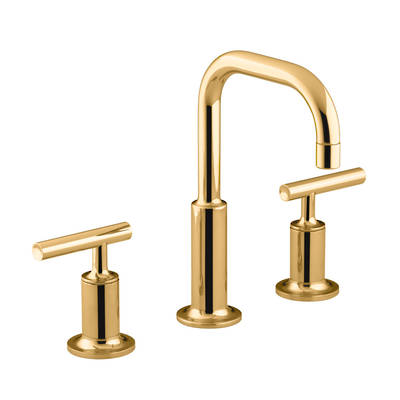 Purist Hob Mount Basin Set - PVD Moderne Polished Gold