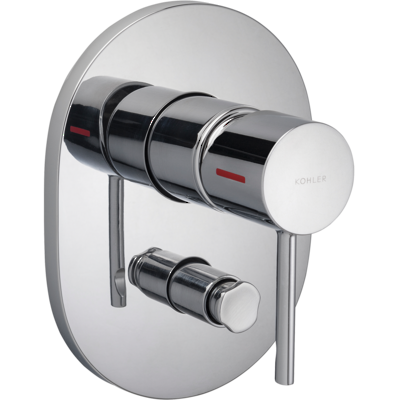 Cuff Bath and Shower Mixer w/ Diverter