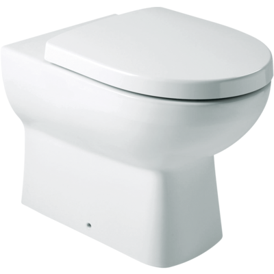 Panache Wall Faced Toilet: S-trap, Bevel FP