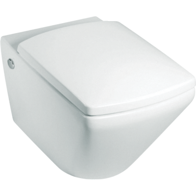 Escale Wall Hung Toilet with oval flush button
