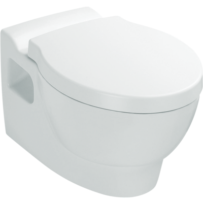 Ove Wall Hung Toilet with bevel flush button