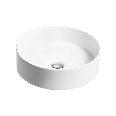 Mica Round Slim Basin - White
