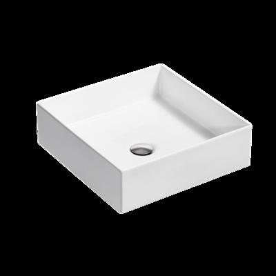 Mica Square Slim Basin - White