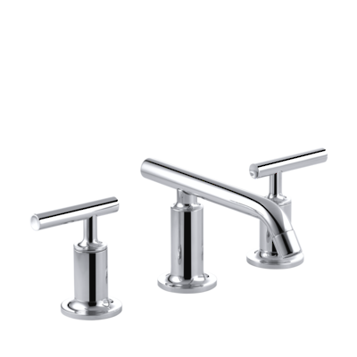 Purist Low Spout Basin Set with Lever Handles - in 5 finishes