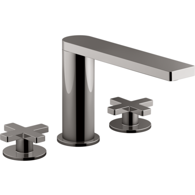 Composed Hob Mount Basin Set with Cross Handles Titanium