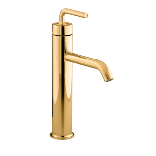 Purist Tall Basin Mixer Moderne Polished Gold