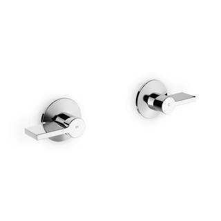 Components Wall Mount Dual Handles Lever Trim (excluding valve)