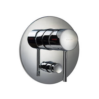 Cuff Bath and Shower Mixer with Diverter - Slim Trim