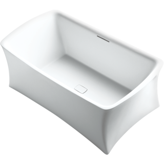 Aliento Lithocast Rectangular Freestanding Bath