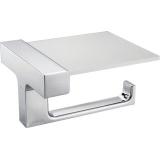 Strayt Horizontal Toilet Tissue Holder with Cover