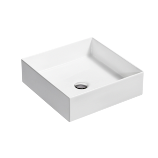 Mica Square Slim Basin - White
