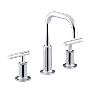 Purist Hob Mount Basin Set - Polished Chrome
