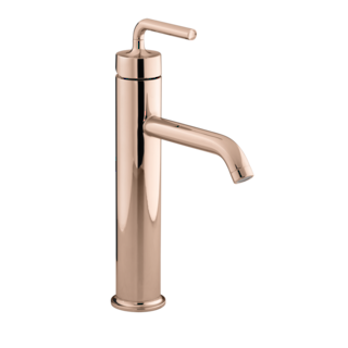 Purist Tall Basin Mixer - PVD Rose Gold