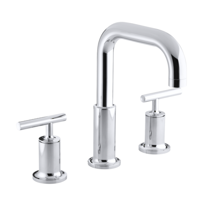 Purist Hob Mount Basin Set - Lever Handle Polished Chrome