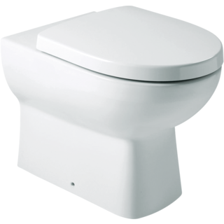 Panache Wall Faced Toilet: P-trap, Oval FP
