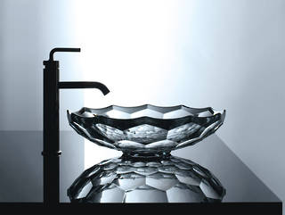 Briolette Faceted Glass Vessel Basin
