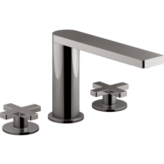 Composed 3TH Basin Set with Cross Handles Titanium Spare Parts
